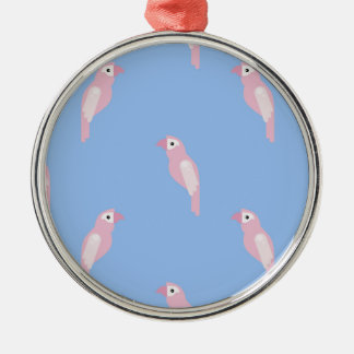 Parrot Ara Seamless Colorful Vector Pattern Metal Ornament