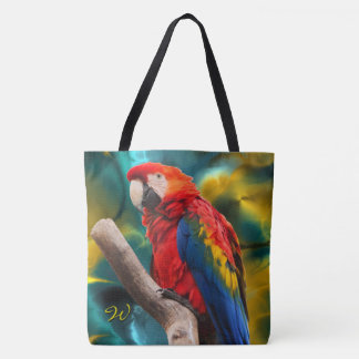 Parrot Art 1 All-Over-Print Tote Bag