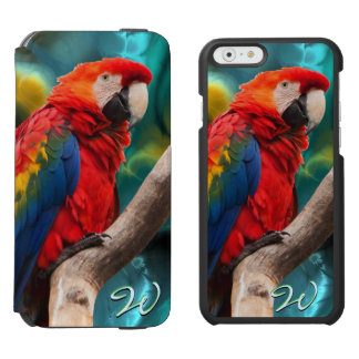 Parrot Art 1B Incipio Watson™ iPhone 6 Wallet Case