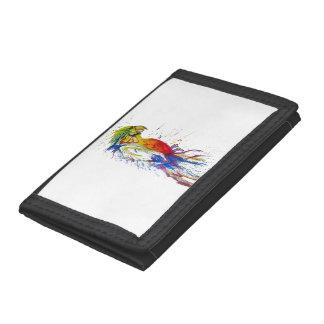 Parrot Bird Animal Tri-fold Wallets