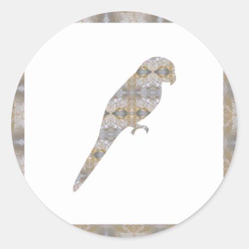 PARROT Bird CRYSTAL Jewel NVN456 KIDS LARGE fun bi Sticker