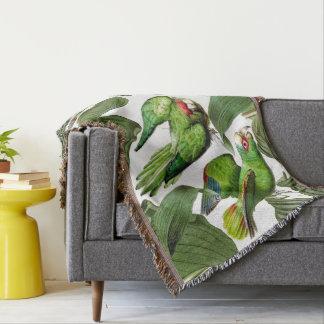 Parrot Birds Collage Wildlife Animal Throw Blanket