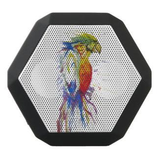 Parrot Budgie Bird Black Bluetooth Speaker