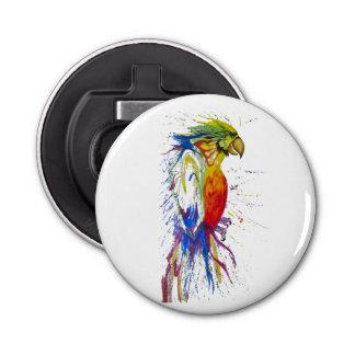 Parrot Budgie Bird Button Bottle Opener