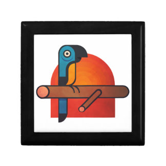 Parrot cartoon art gift box
