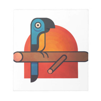 Parrot cartoon art notepad