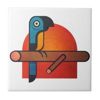 Parrot cartoon art tile