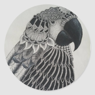 Parrot Circle Sticker