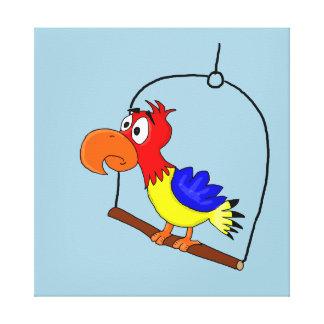 Parrot design paper products canvas prints