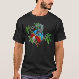 Parrot Dragon (dark design) T-Shirt