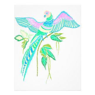 Parrot embroidery letterhead