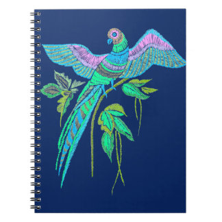 Parrot embroidery notebook