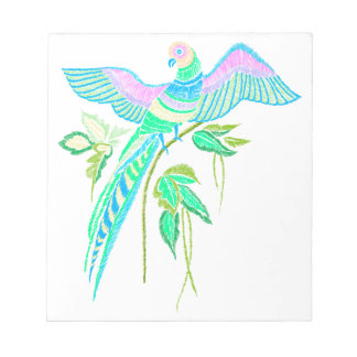 Parrot embroidery notepad