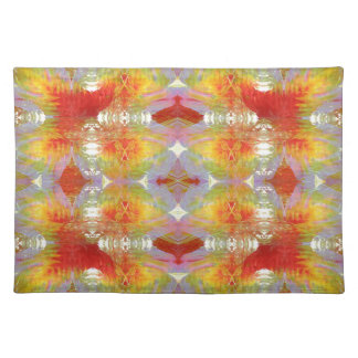 Parrot feathers pattern placemat