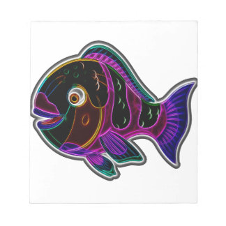 Parrot fish notepad