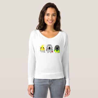 Parrot Friends / cockatiel, Senegal, African Grey T-shirt