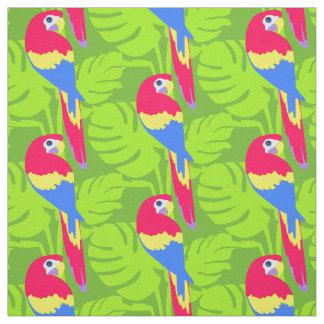 Parrot graphic bird art named purple fabric