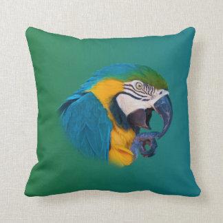 Parrot, Green and Blue, Customizable Throw Pillow