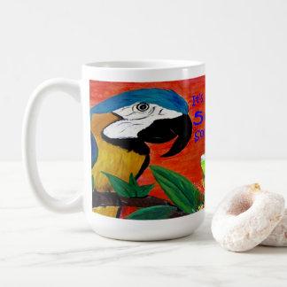 Parrot head and margarita beach house coffee mug