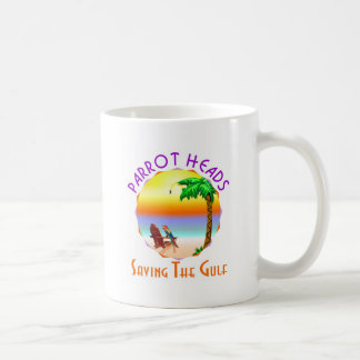 Parrot Heads Saving The Gulf from BP oil Coffee Mug