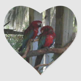 Parrot Heart Sticker