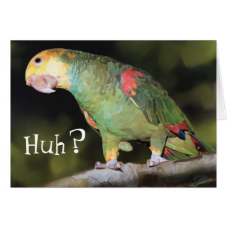 Parrot, Huh? Card