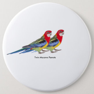 Parrot image for Colossal Round Badge 6 Inch Round Button