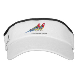Parrot image for Custom Knit Visor, White Visor