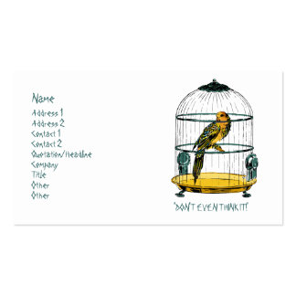 Parrot in a Gilded Cage Pack Of Standard Business Cards