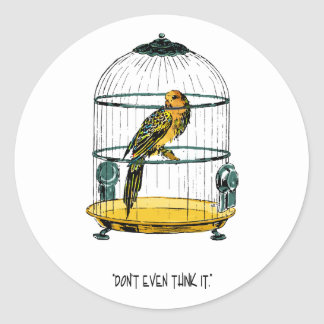 Parrot in a Gilded Cage Round Sticker