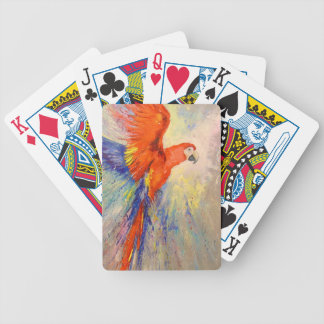 Parrot in flight bicycle playing cards