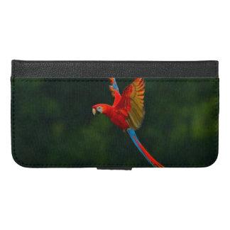 Parrot in Flight iPhone 6/6s Plus Wallet Case