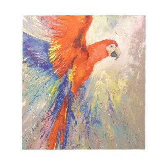 Parrot in flight notepad