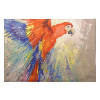 Parrot in flight placemat