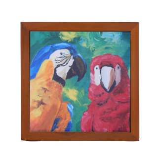 Parrot Love Birds Desk Organizers