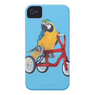 Parrot Macaw on Tricycle bike iPhone 4 Case-Mate Case
