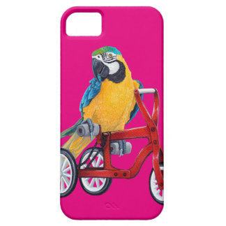 Parrot Macaw on Tricycle bike iPhone 5 Case