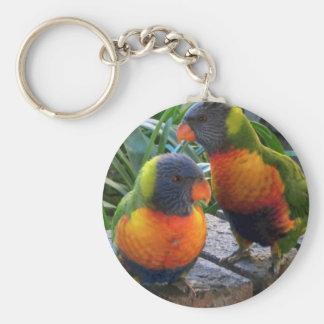 Parrot Pals Basic Round Button Keychain