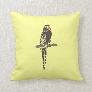 Parrot Parrots Bird Birds Black Cartoon Art Pillow