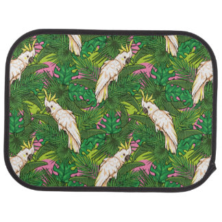 Parrot Pattern With Palm Leaves Auto Mat