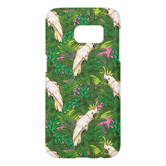 Parrot Pattern With Palm Leaves Samsung Galaxy S7 Case