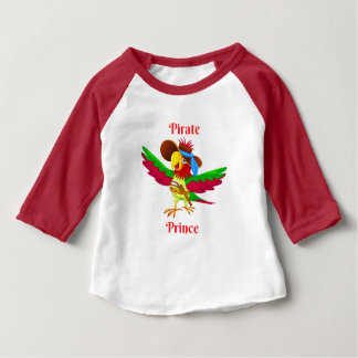 Parrot Pirate Prince Baby 3/4 Sleeve Baby T-Shirt
