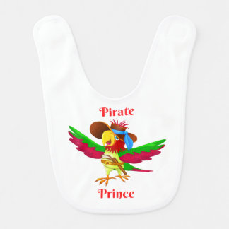 Parrot Pirate Prince Baby Bib