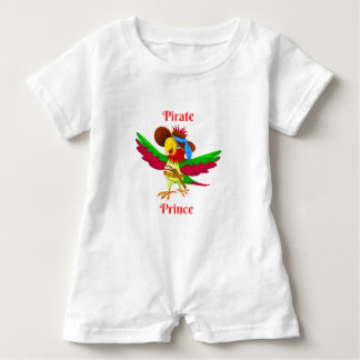 Parrot Pirate Prince Baby Romper