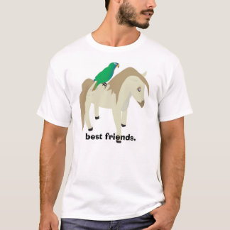 Parrot & Pony - best friends. T-Shirt