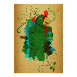 Parrot Print/Cotorra Poster