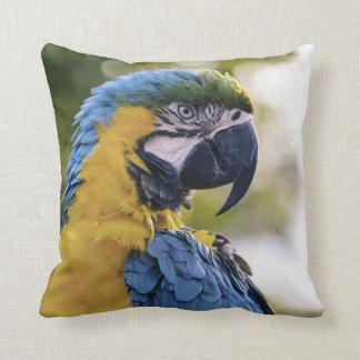 Parrot Profile Portrait Photograph Throw Pillow