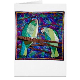 Parrot Quilt Card