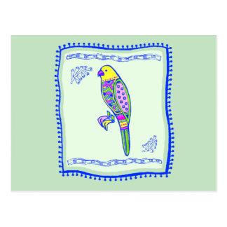 Parrot Quilt Postcard