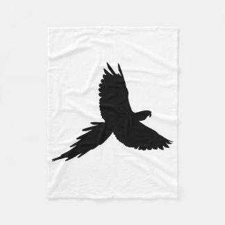 Parrot Silhouette Fleece Blanket